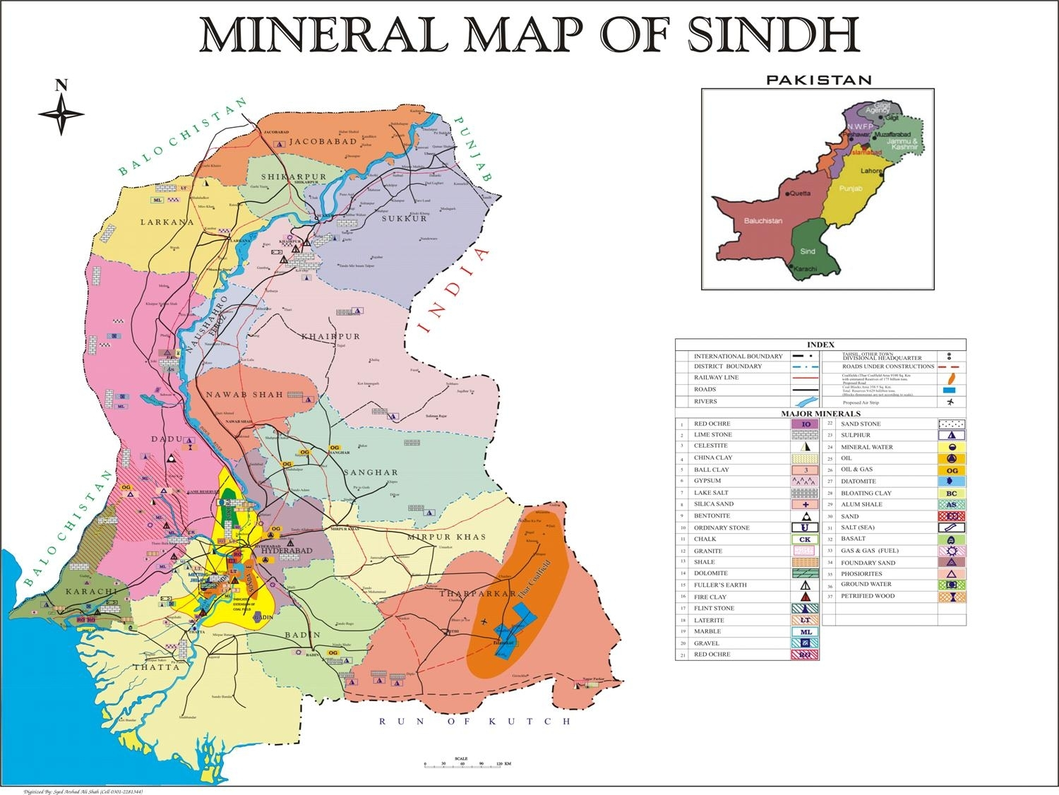 Gallery Image Viewer > Mineral Map of Sindh